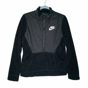 Nike Boy's Winterized 1/2 Zip Black Fleece Jacket